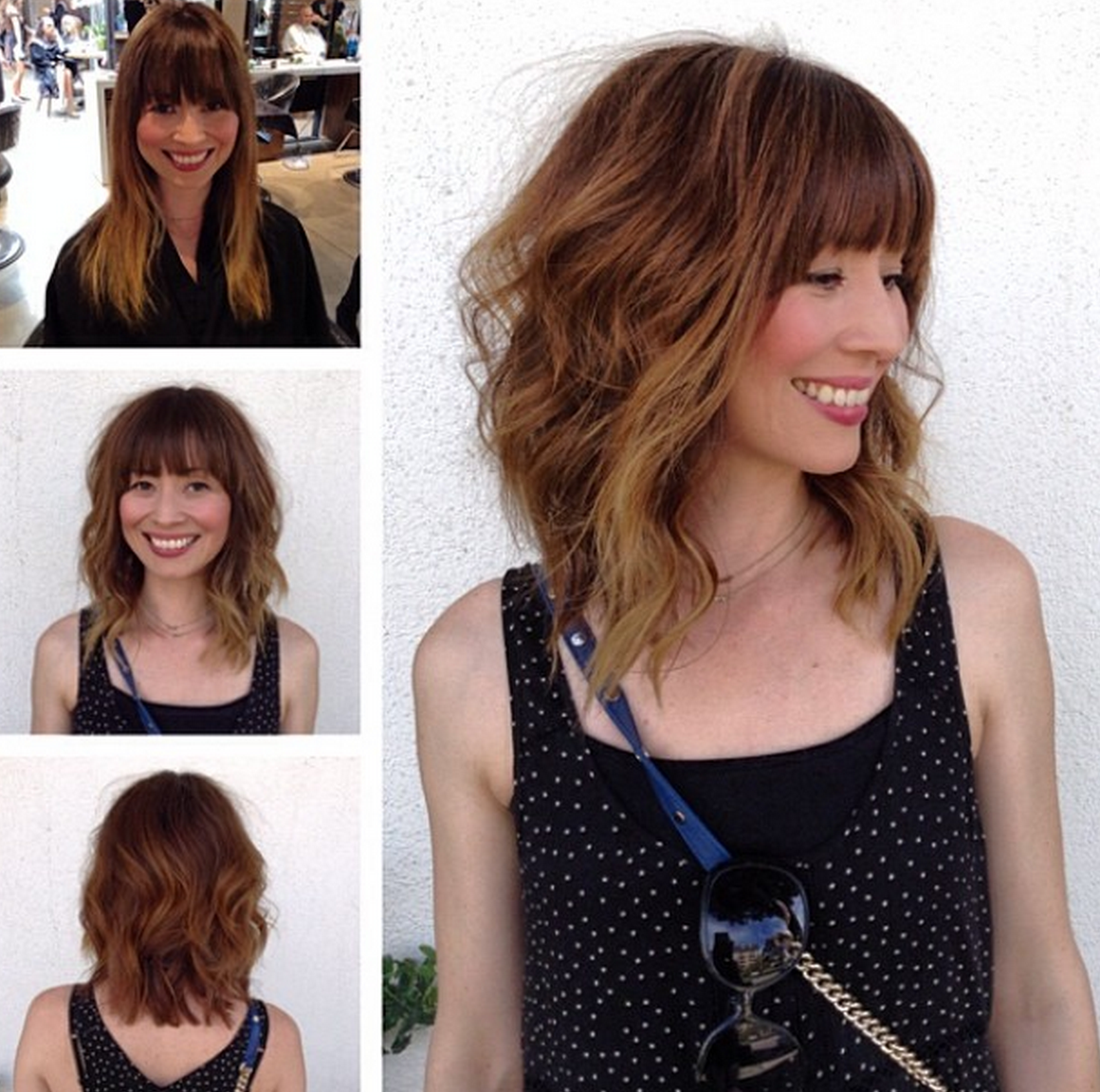 how to style lob hair with a shorter and a slightly more angled cut from 7002