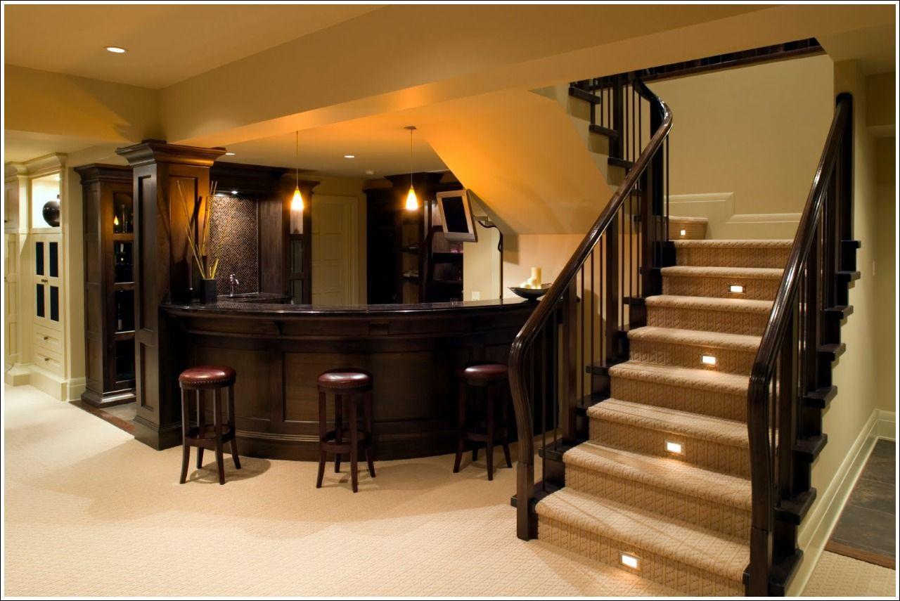 Beautiful basement wet bar