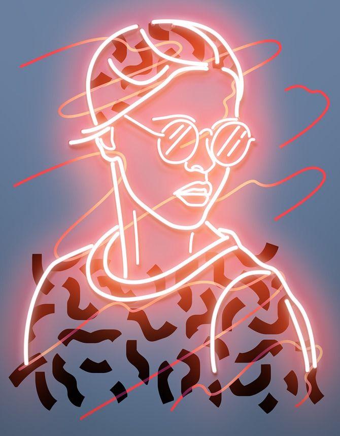 123 lights by vasya kolotusha graphic inspiration for Neon artiste contemporain
