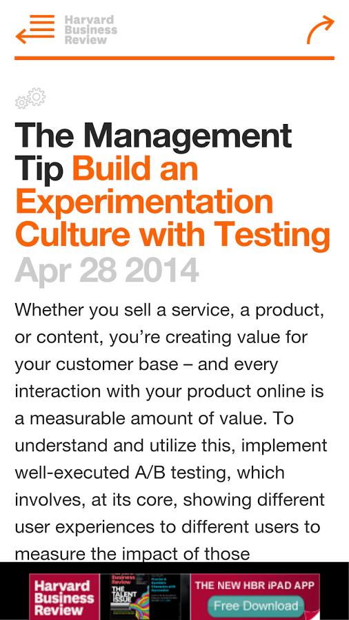 Image result for harvard business review app Management