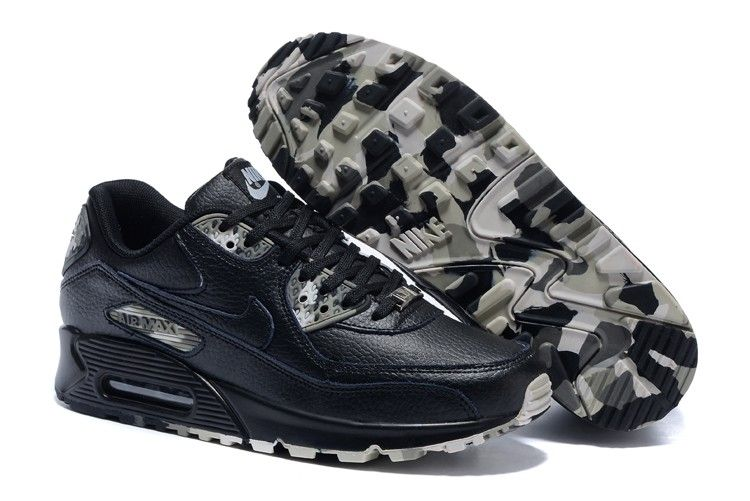sneakers for cheap 5234d 5aba3 2015 New Nike Air Max 90 shoes men QS 813150 109 - Black