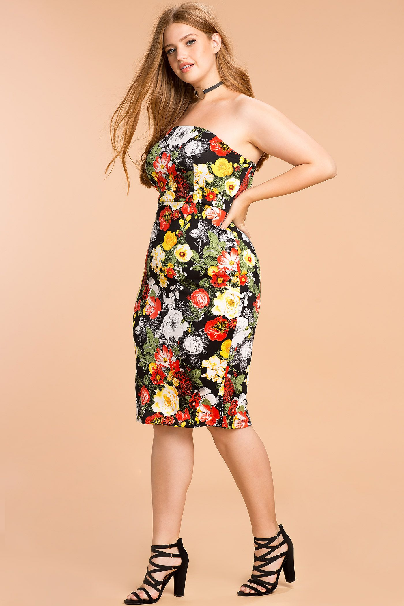 Womens Plus Size Bodycon Dresses She Knows Floral Bodycon Dress