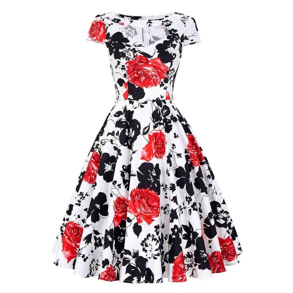 Vintage Casual Party Swing Dresses