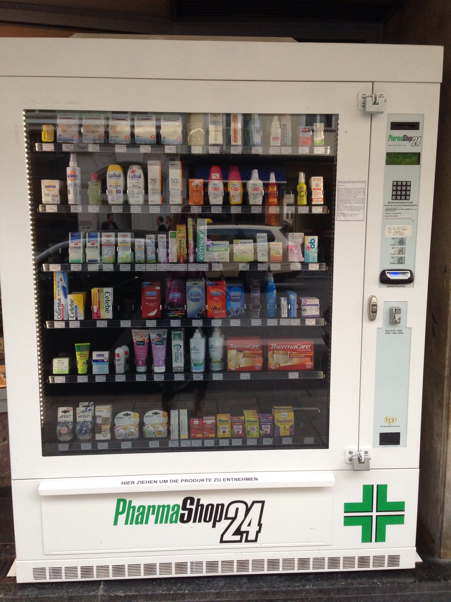 Pharmacy Automat, condoms anyone? P (it was on the street