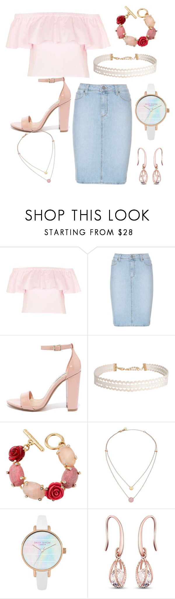 """""""Untitled #91"""" by andreia-lin on Polyvore featuring Topshop, Paige Denim, Steve Madden, Humble Chic, Oscar de la Renta and Michael Kors"""