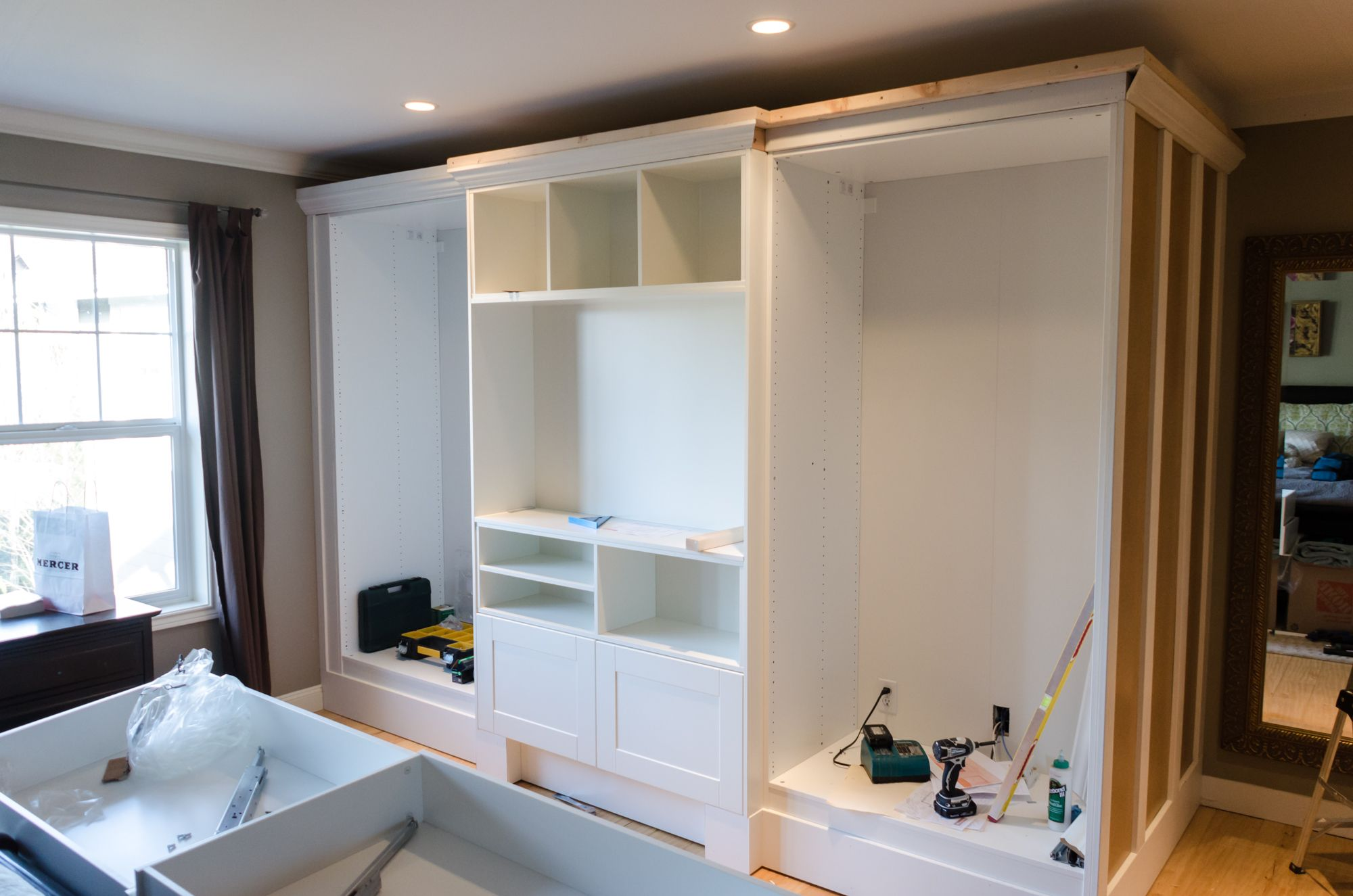 built in wardrobe using ikea pax system diy home pinterest ikea pax pax system and bedrooms. Black Bedroom Furniture Sets. Home Design Ideas