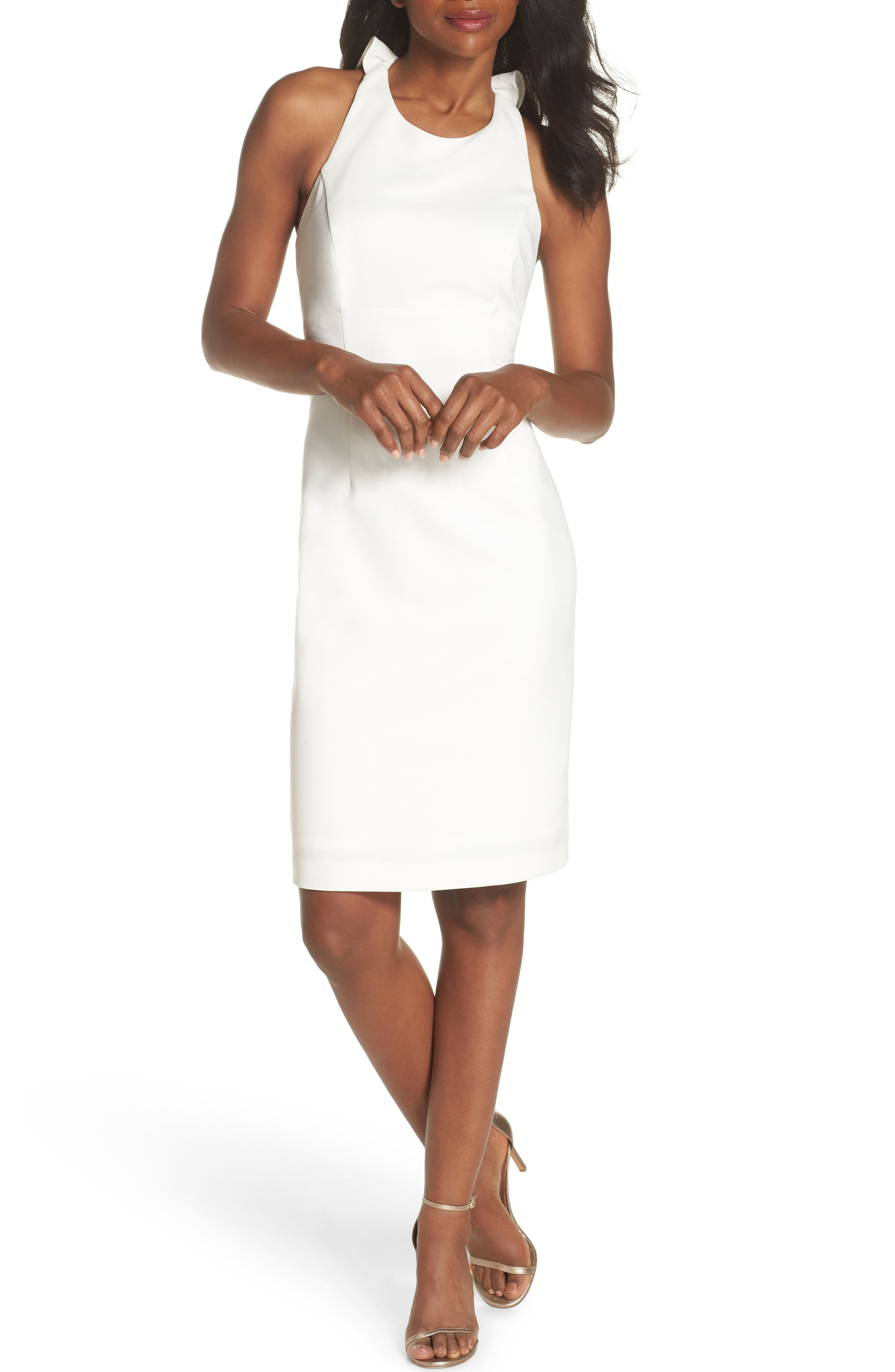 f6bb5dc349a Chic Vince Camuto Sleeveless Ruffle Back Sheath Dress online.   188   perfectdresses from top