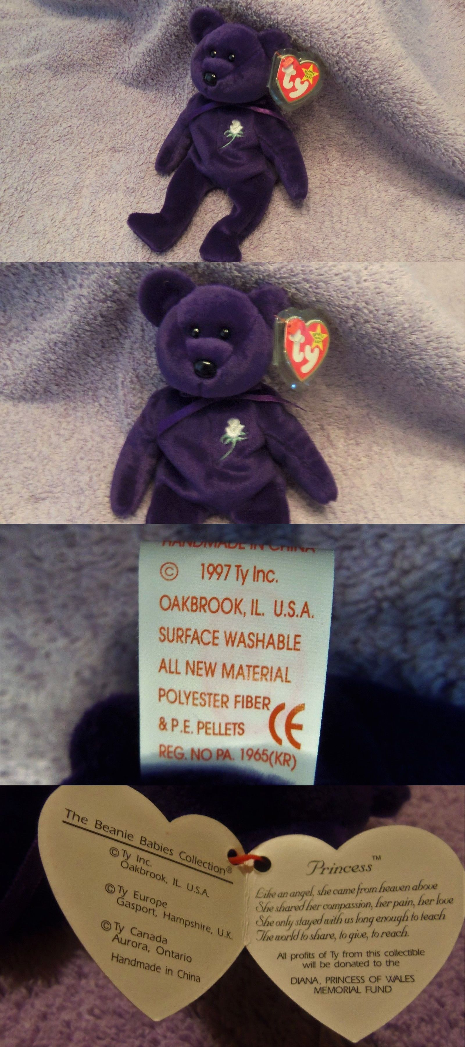 Retired 440  Ty Princess Diana Beanie Baby 1997 Original Brand New With  Free Shipping - 12029a8b4786