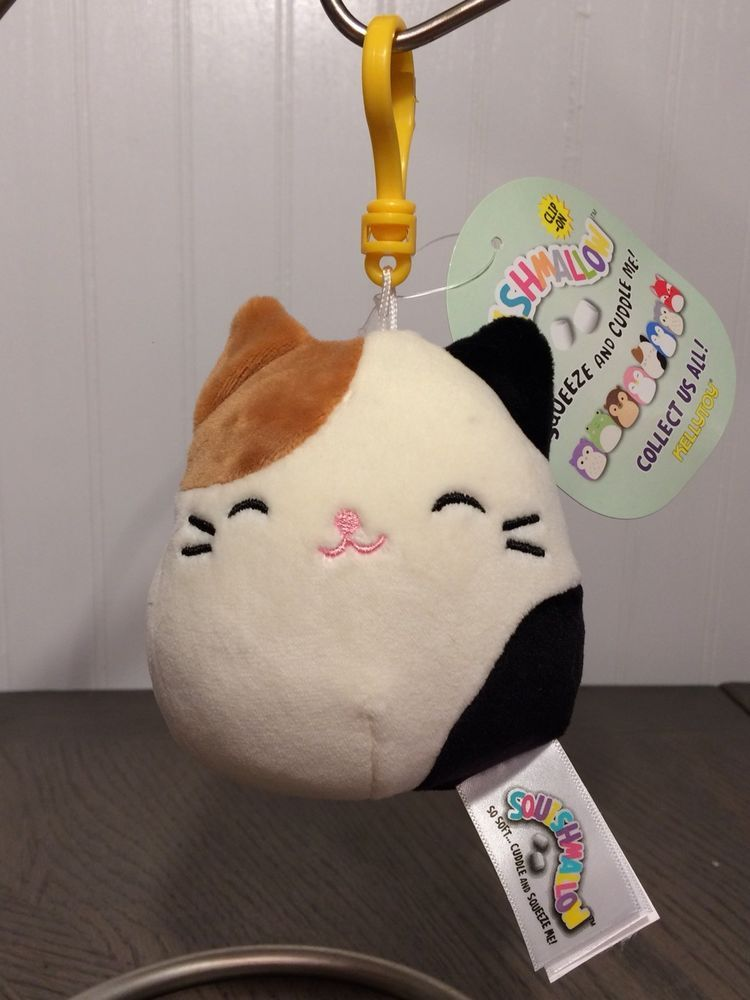 Squishmallows Clip On Cameron Cam Calico Cat Kellytoy Backpack Clip Ebay Res
