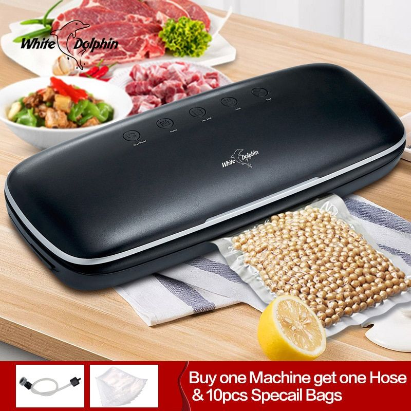 White Dolphin Best Vacuum Food Sealer With Hose And 10pcs Food