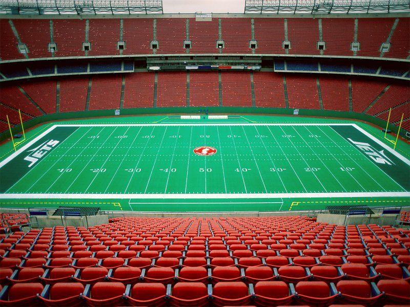 Seamless Vinyl Photography Backdrop Football Stadium Match: Empty Giants Stadium, New Jersey