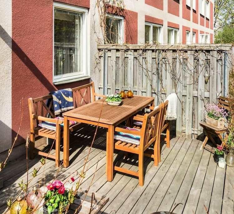 Holzjalousien, Zäune und Grills für die Terrasse Balkon
