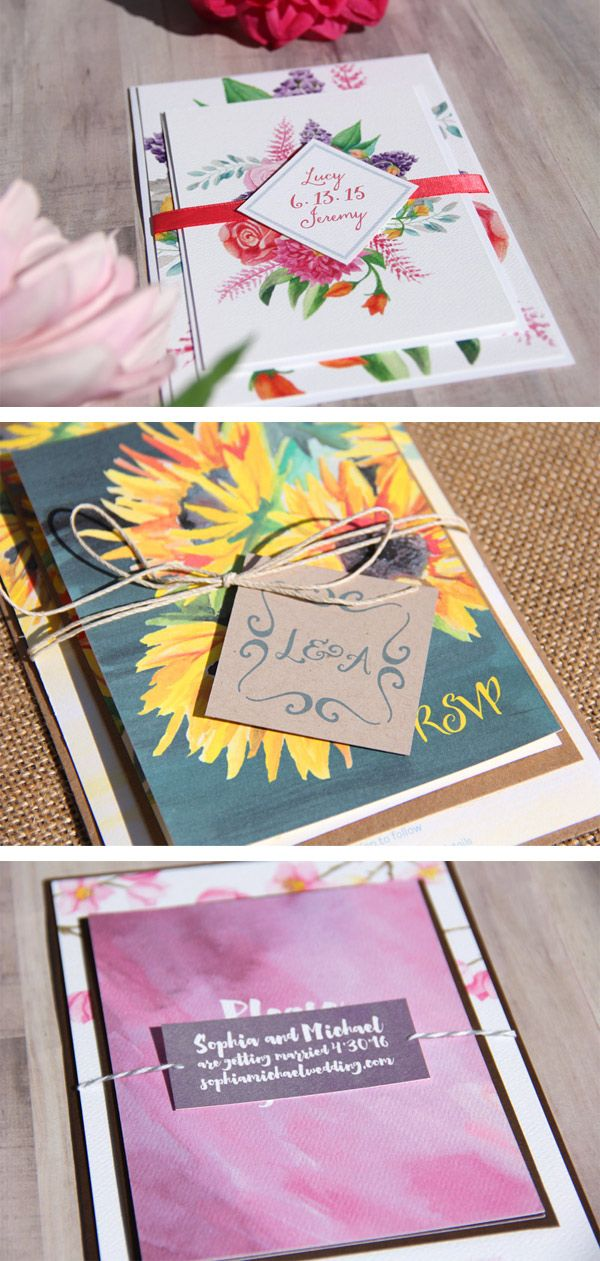 Use belly bands or tags with twine to tie your wedding