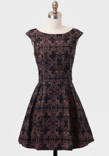 $57 Hotel Meurice Brocade Dress   Modern Vintage Dresses   Modern Vintage Clothing