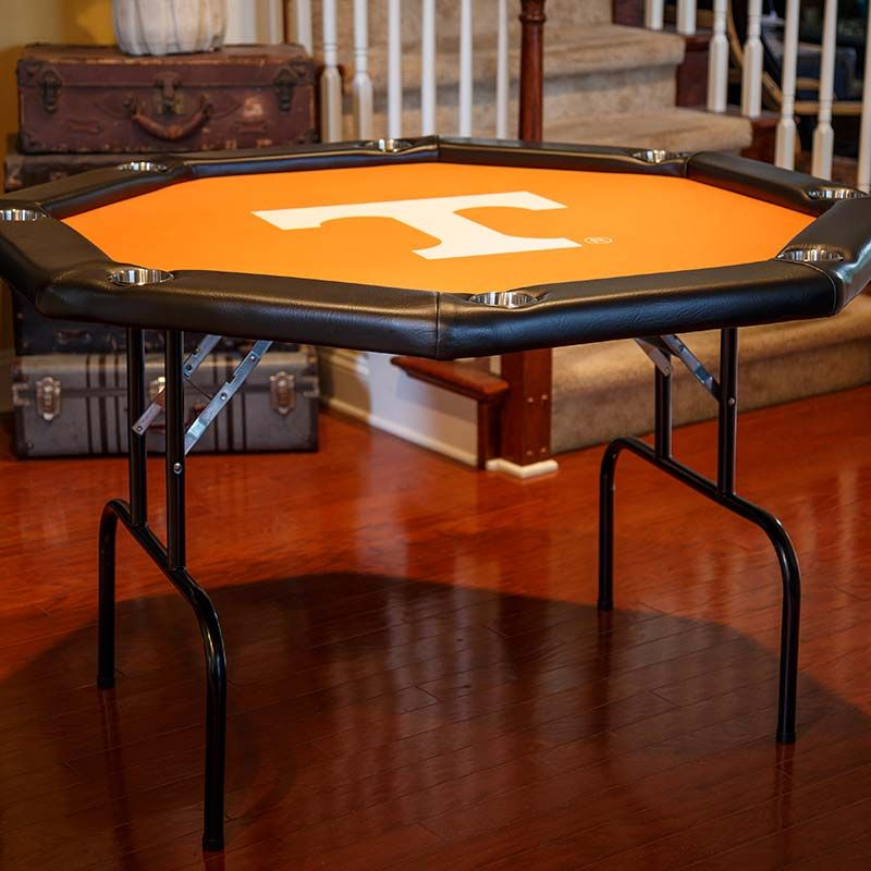 Octagon Game Table With Tennessee Vols Felt C Folding Card Table Octagon Poker Table Table Games Poker Table Felt