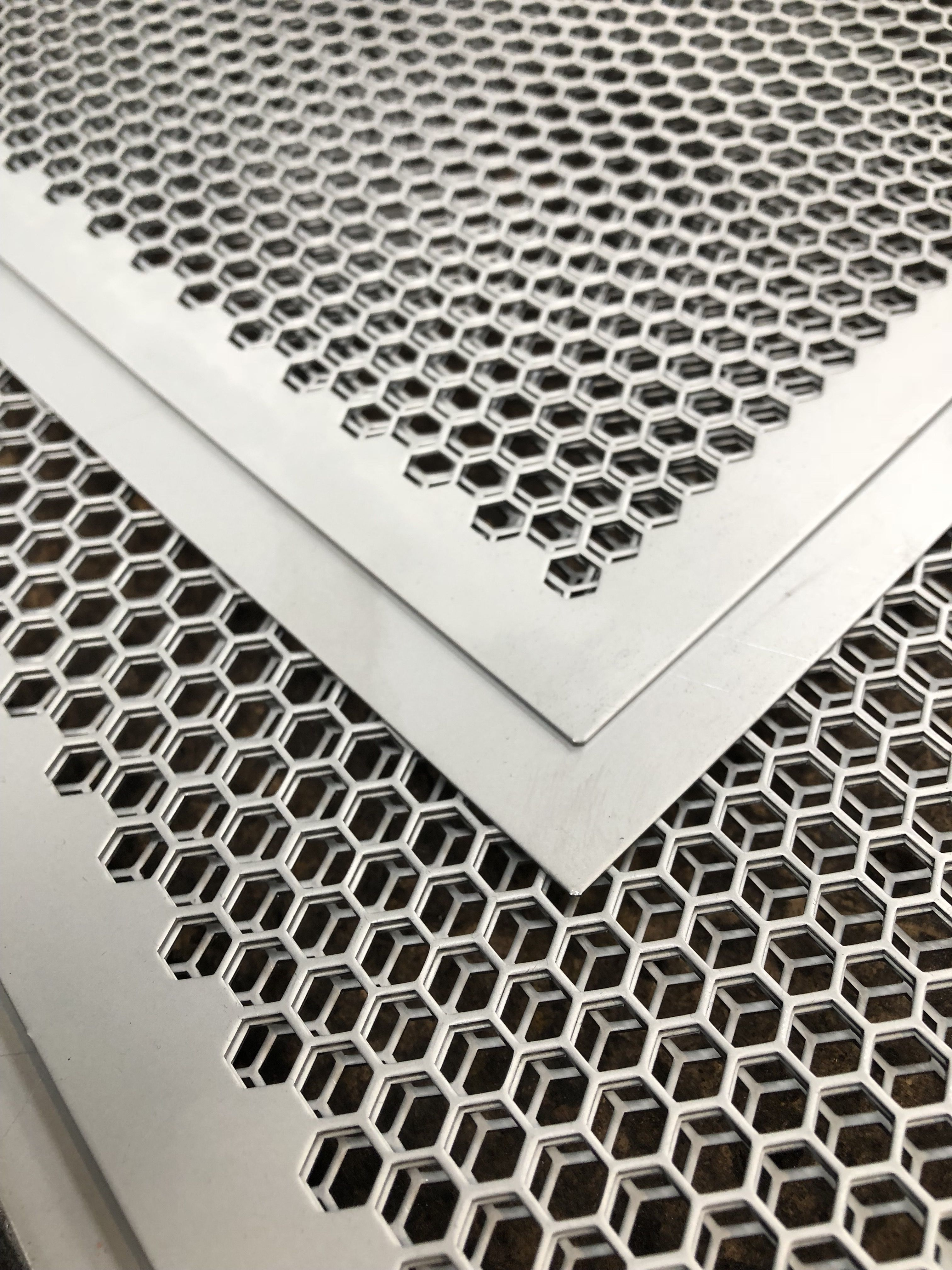 Fielden Hex Perf Perforated Metal Perforated Plate Wood Doors Interior