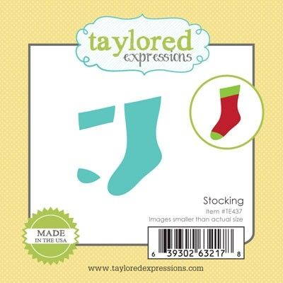 Taylored Expressions Little Bits STOCKING Die Set TE437 at Simon Says STAMP!