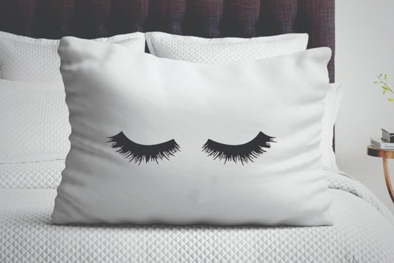 Eyelash Pillow Case for Her Beautiful
