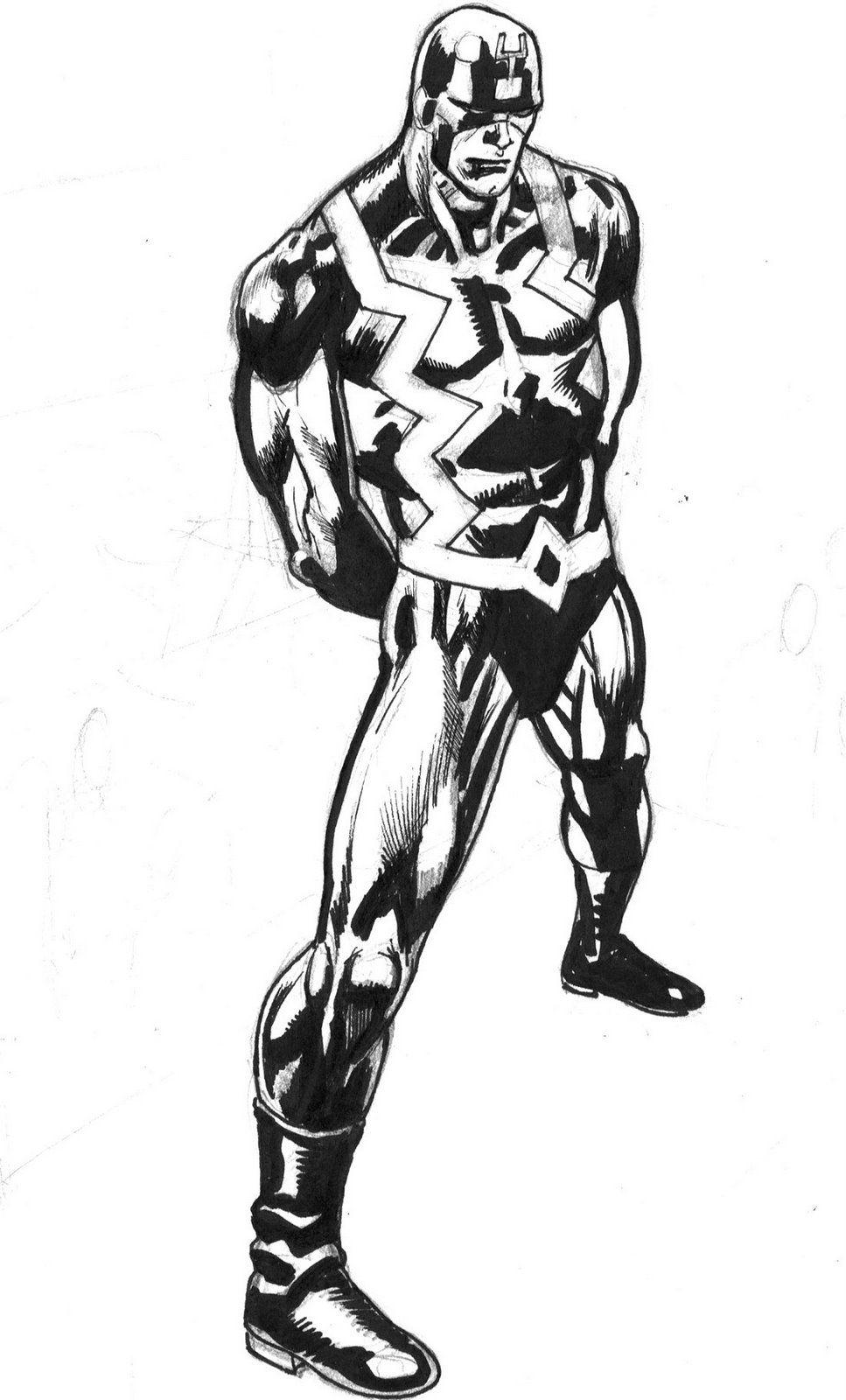 Black Bolt Sketch by Kevin Nowlan   Kevin Nowlan Fan Page   Pinterest