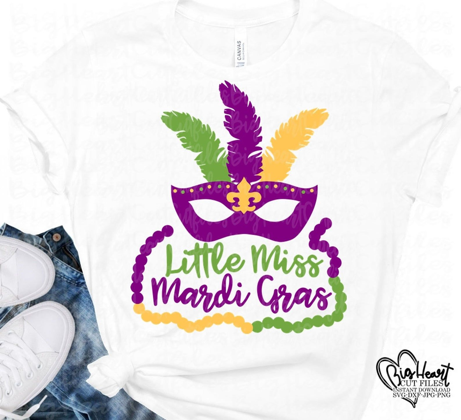 Little Miss Mardi Gras Svg Mardi Gras Mask With Feathers