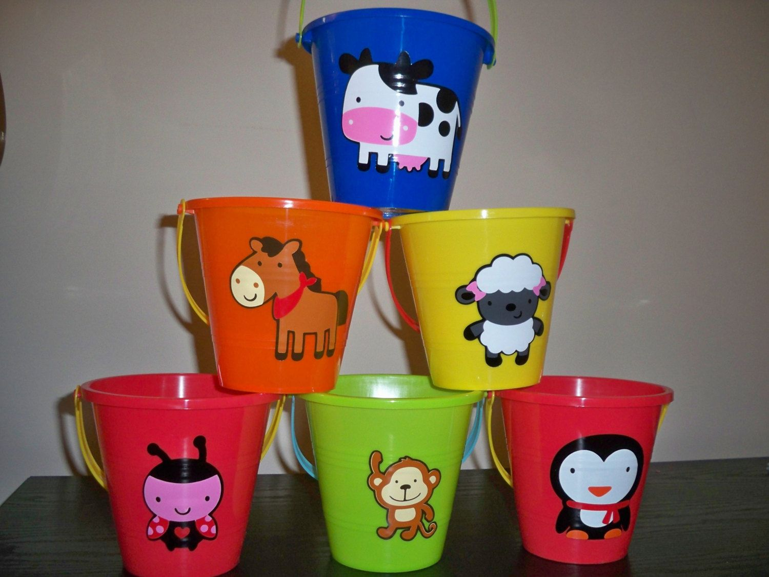 Animal Party Theme Decorations Part - 44: ANIMAL Theme BIRTHDAY Party FAVOR Pails Price Is By BeyondBalloons