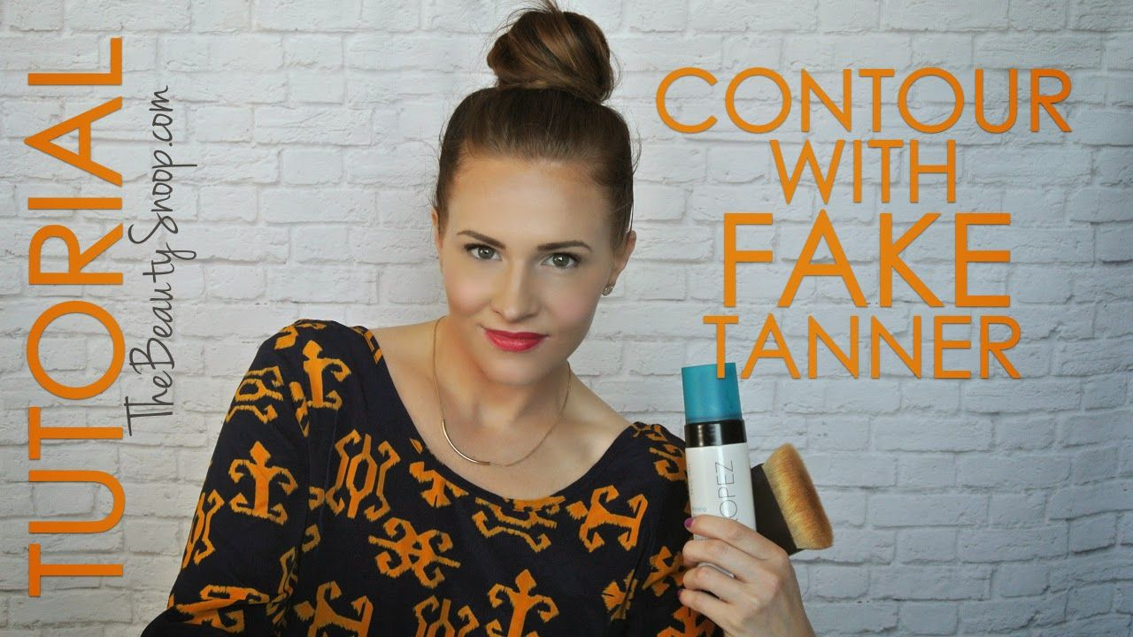 How to contour your face with self tanner how to contour