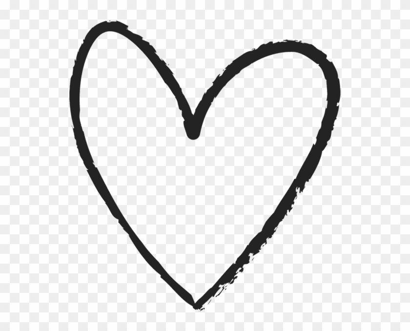 Hand Drawn Line Art Heart 1289206 Heart Clip Art How To Draw Hands Line Art