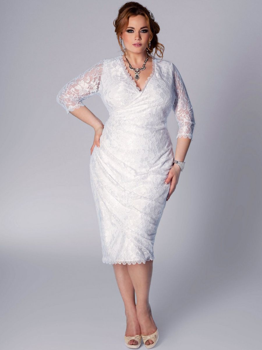 White, lace dress for Sienna wearing when she and Cole got married ...
