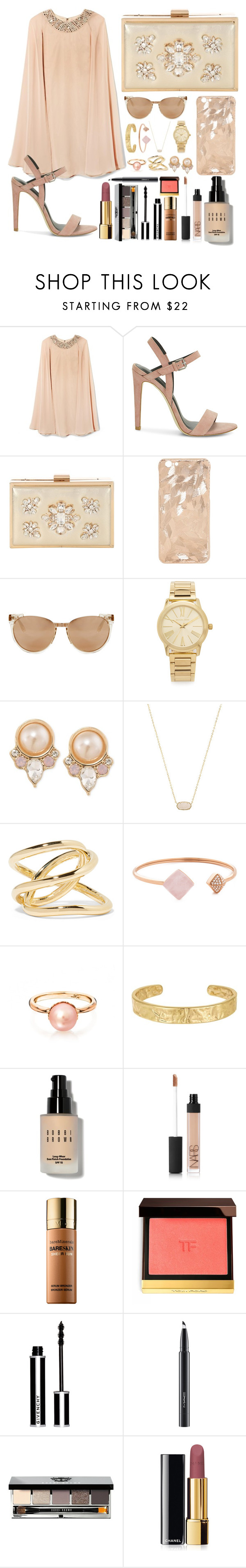 """""""Poor Charlotte"""" by sophiewb ❤ liked on Polyvore featuring Vince Camuto, Rebecca Minkoff, Jane Norman, Linda Farrow Luxe, Michael Kors, Carolee, Kendra Scott, Jennifer Fisher, Sam Edelman and Bobbi Brown Cosmetics"""