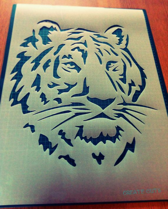Bengal Tiger Stencil Reusable DIY Craft Mylar Stencil Big Size Home decor textile painting wall decor animal stencil