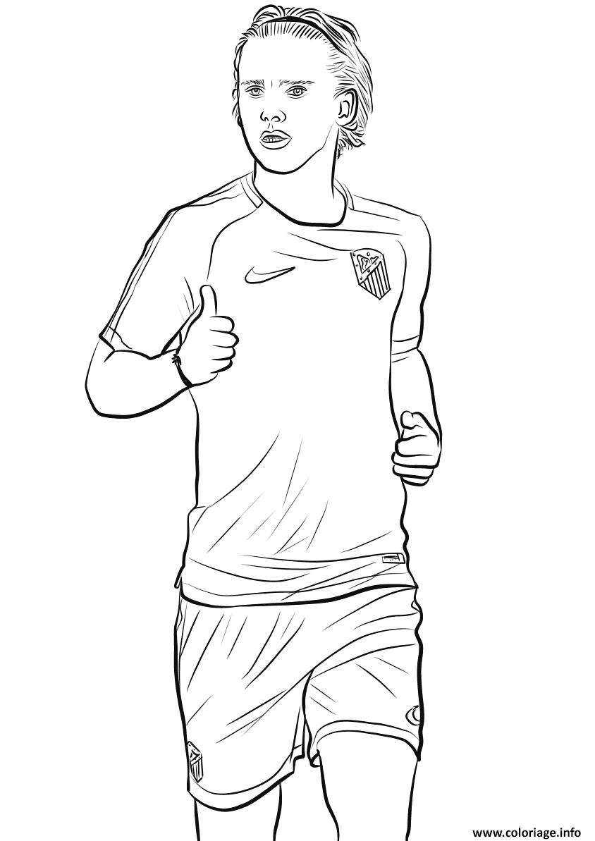 Coloriage Foot Griezmann.Coloriage Antoine Griezmann Joueur France Coupe Du Monde