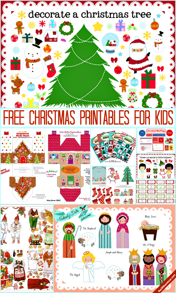 Christmas Printables for Kids Free christmas printables