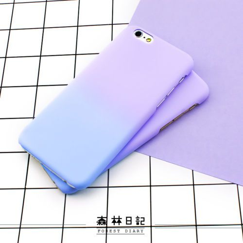 cf625a28d4 Fashion Simple Cute Purple Blue Matte Hard Case Cover Skin For iPhone 6 6S  Plus