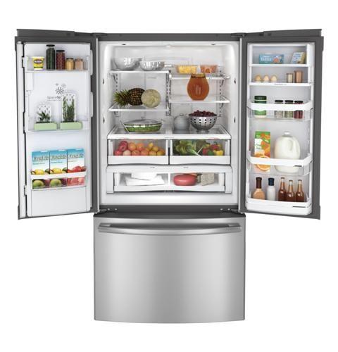 Ge Profile French Door Refrigerator French Doors Kitchen