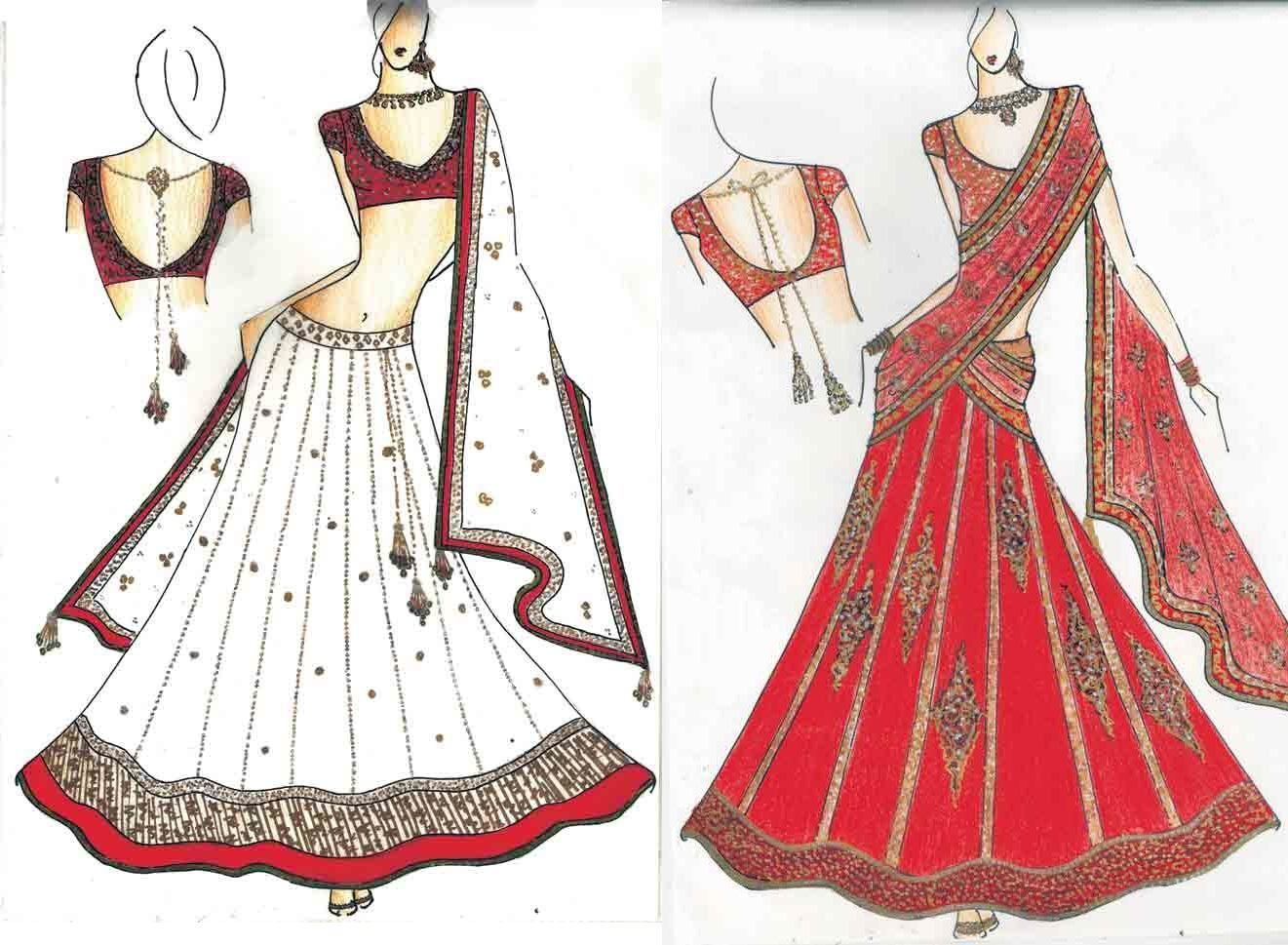 Easy Fashion Sketches With Easy Fashion Design Sketches His Hand Drawn Sketches Modestil Bollywood Mode Modedesign Skizzen