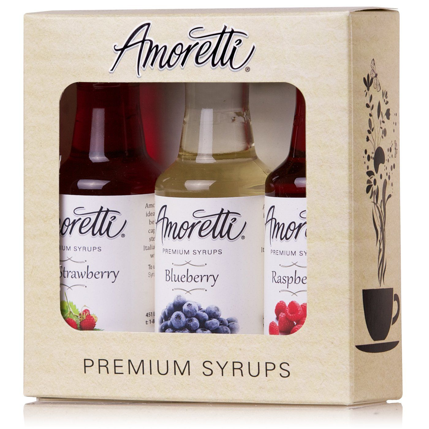 Amoretti premium berry syrups 50ml 3 pack wild strawberry