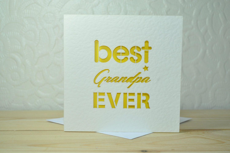 Best grandpa ever laser cut card lazercraft pinterest laser
