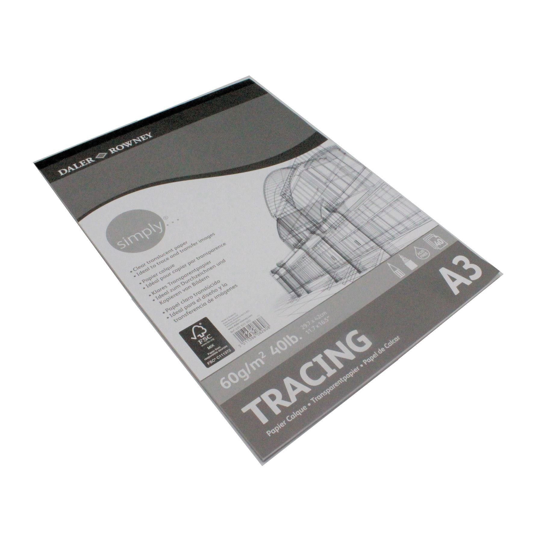 Canson Xl Series Mix Media Pad Tracing Paper Pad 60gsm A3 Daler Rowney Simply 40 Sheets In 2020