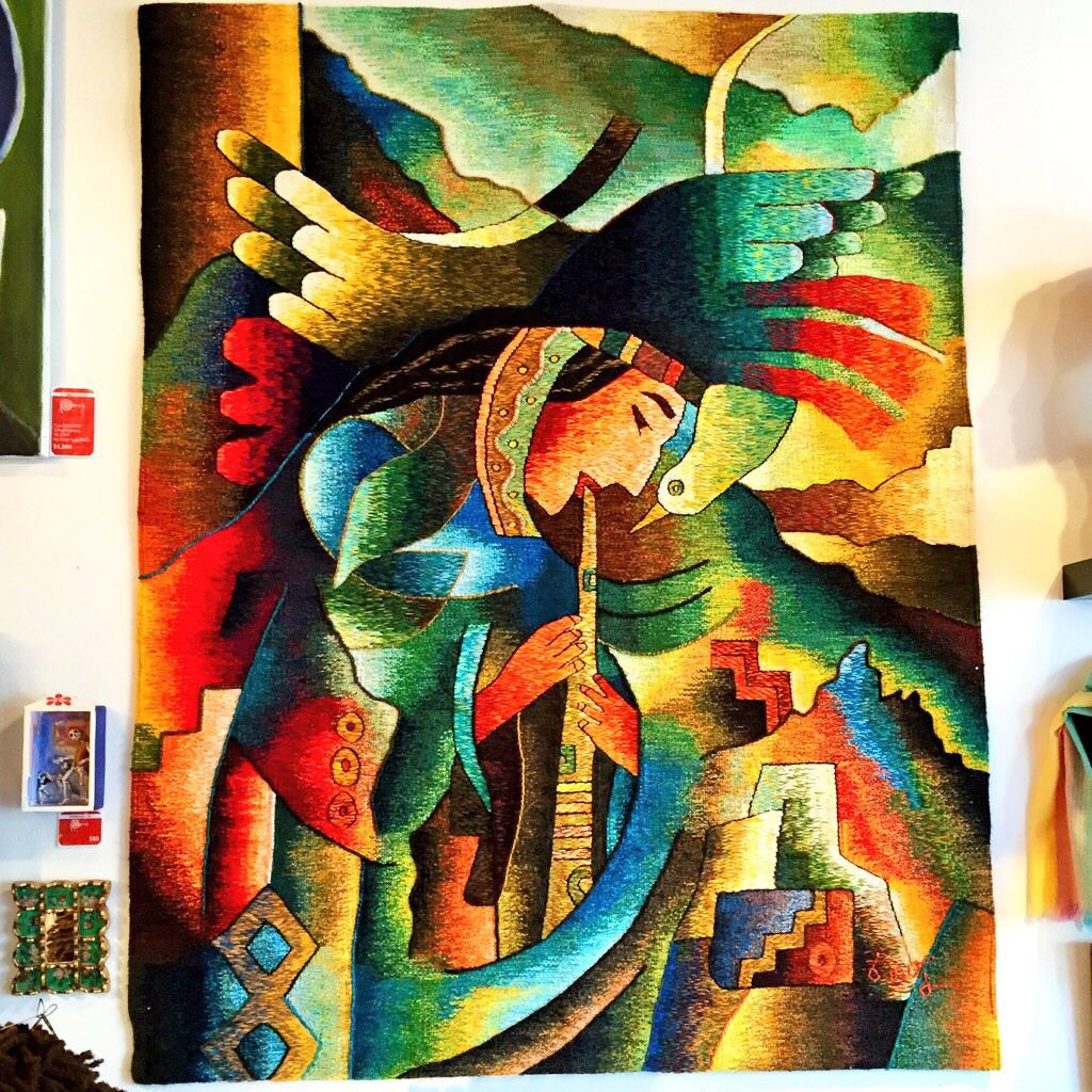 """""""The Sound of The Andes"""" - Alpaca Tapestry by master weaver Constantino Laura - Ayacucho, Peru - 60x46"""""""