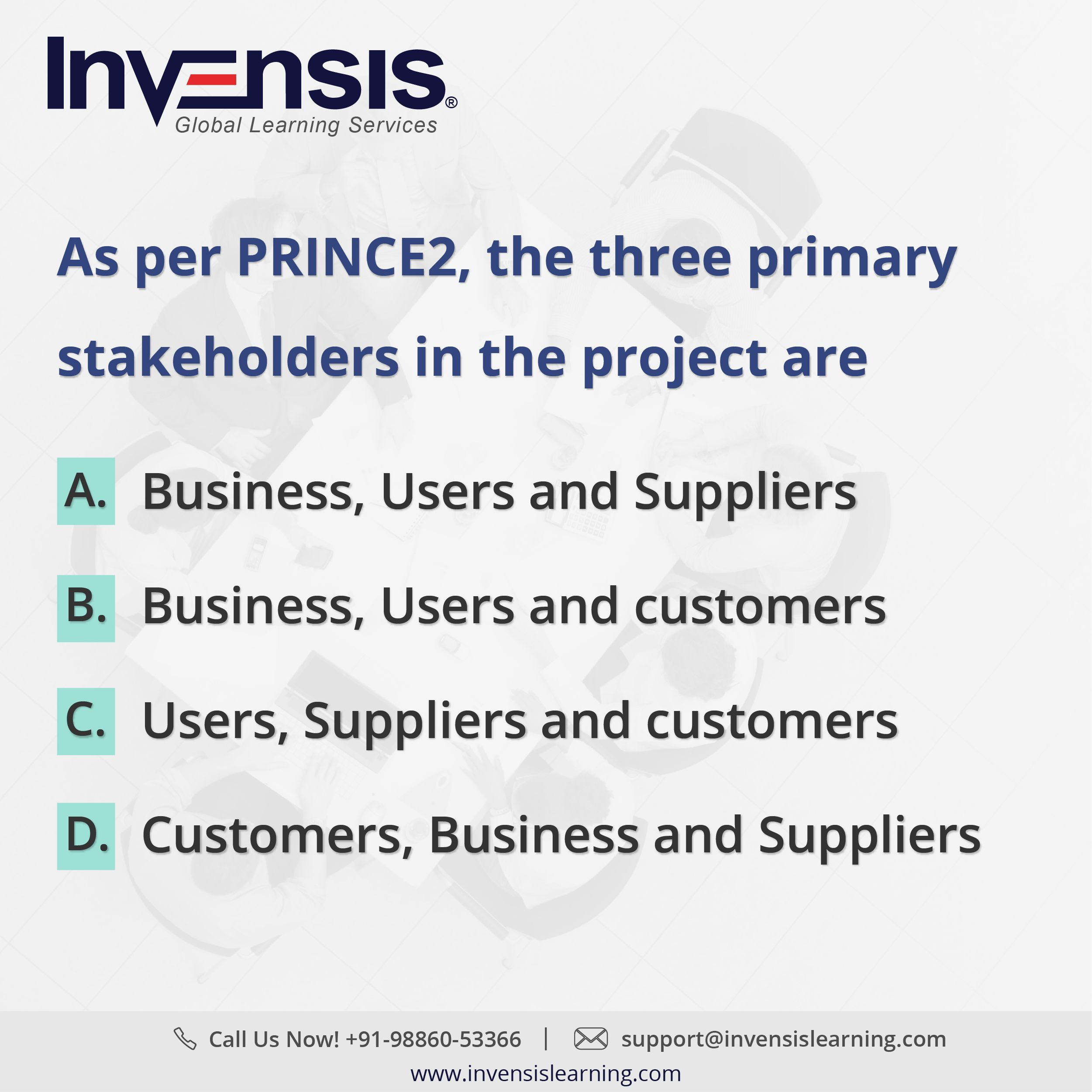 As per prince2 the three primary stakeholders in the project are as per prince2 the three primary stakeholders in the project are get 2 prince2 foundation tests with our prince2 certification training in brussels xflitez Images