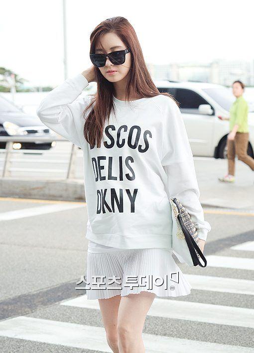 snsd seohyun airport fashion 140604 2014 snsd airport