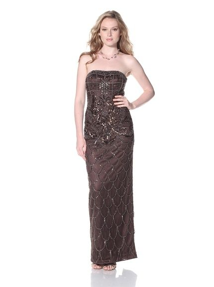 Sue Wong Women's Strapless Gown | Reminds me of Rose's dress in Titanic. Yes?