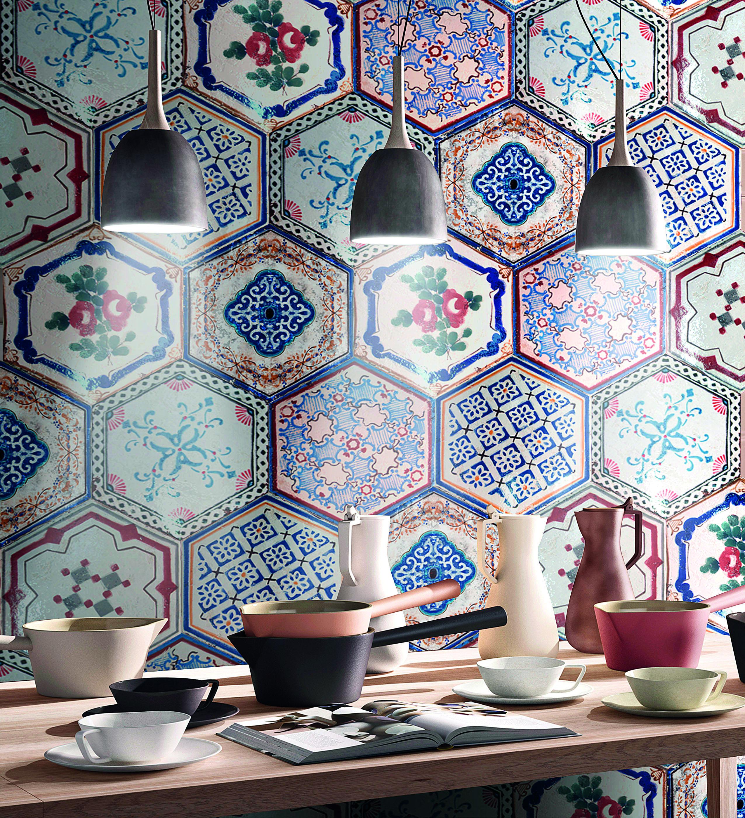 Wow! #küche #modern #design #fliesen #tiles #bunt #farbenfroh ...
