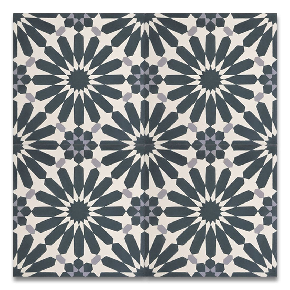 Alhambra Handmade 8 X 8 Cement Subway Tile In Navy Blue