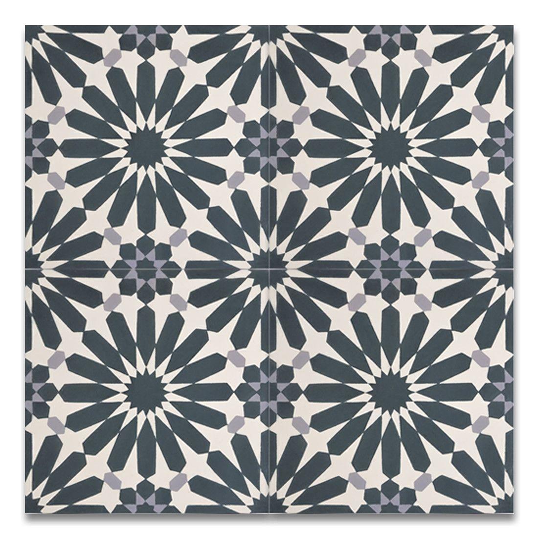 Alhambra Handmade 8 X 8 Cement Subway Tile In Navy Blue