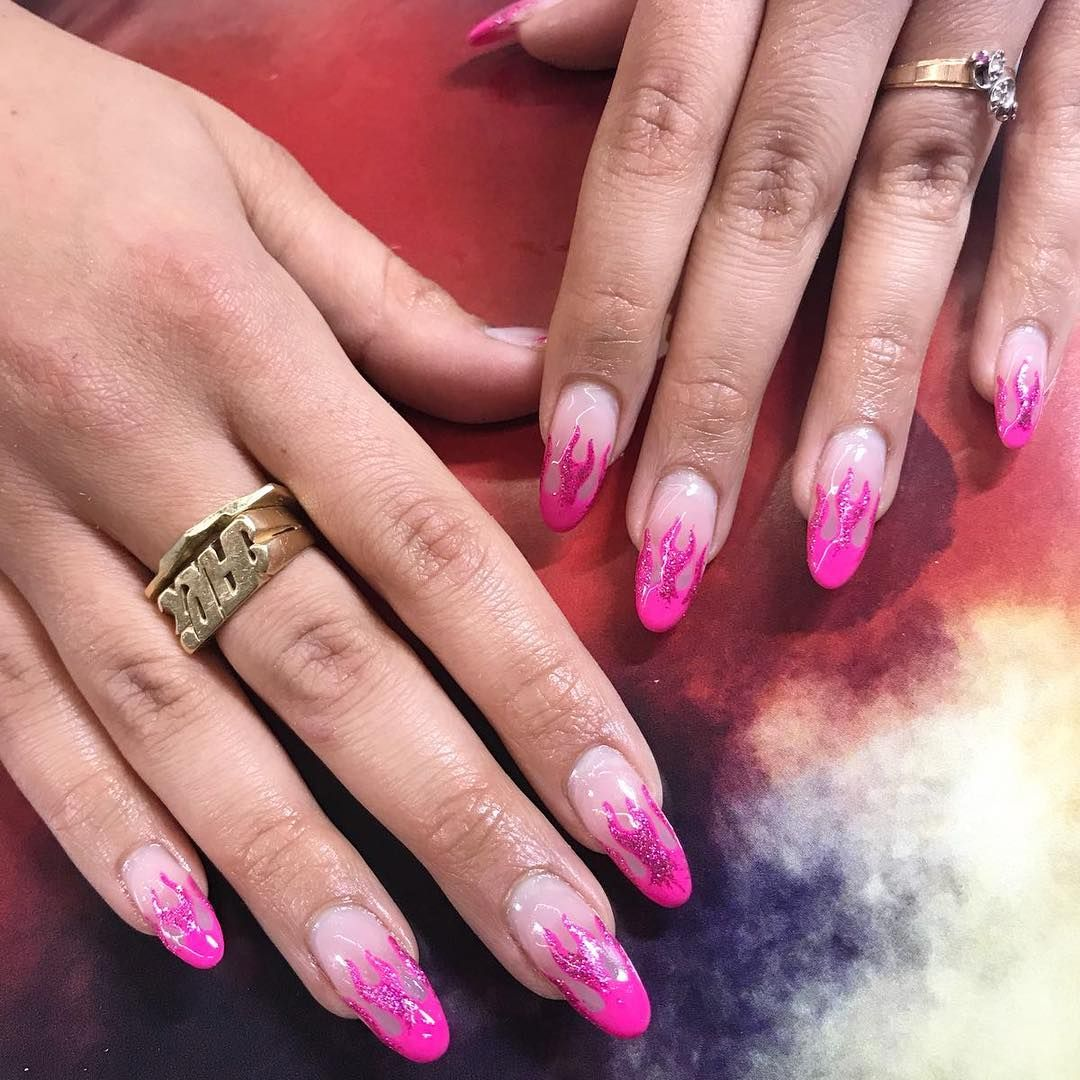 Flame Nails Pink - Year of Clean Water
