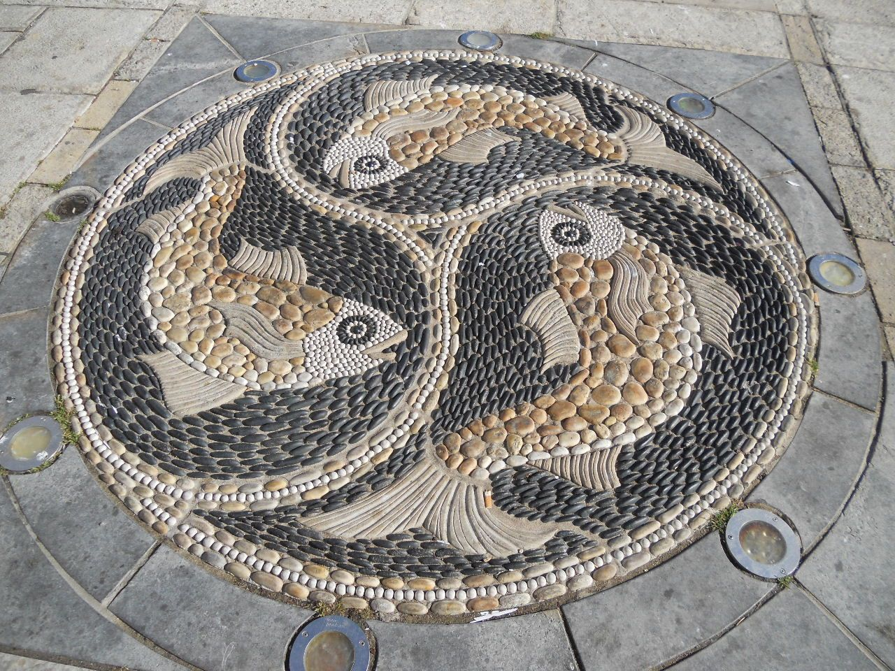 this pebble mosaic in swanage dorset was made by. Black Bedroom Furniture Sets. Home Design Ideas
