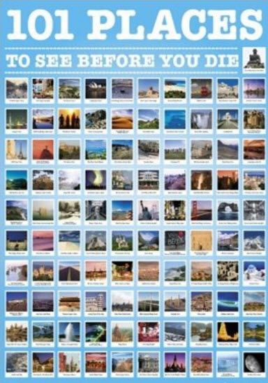 add these great places to your bucket list this high quality poster image is approximately by and is suitable for framing