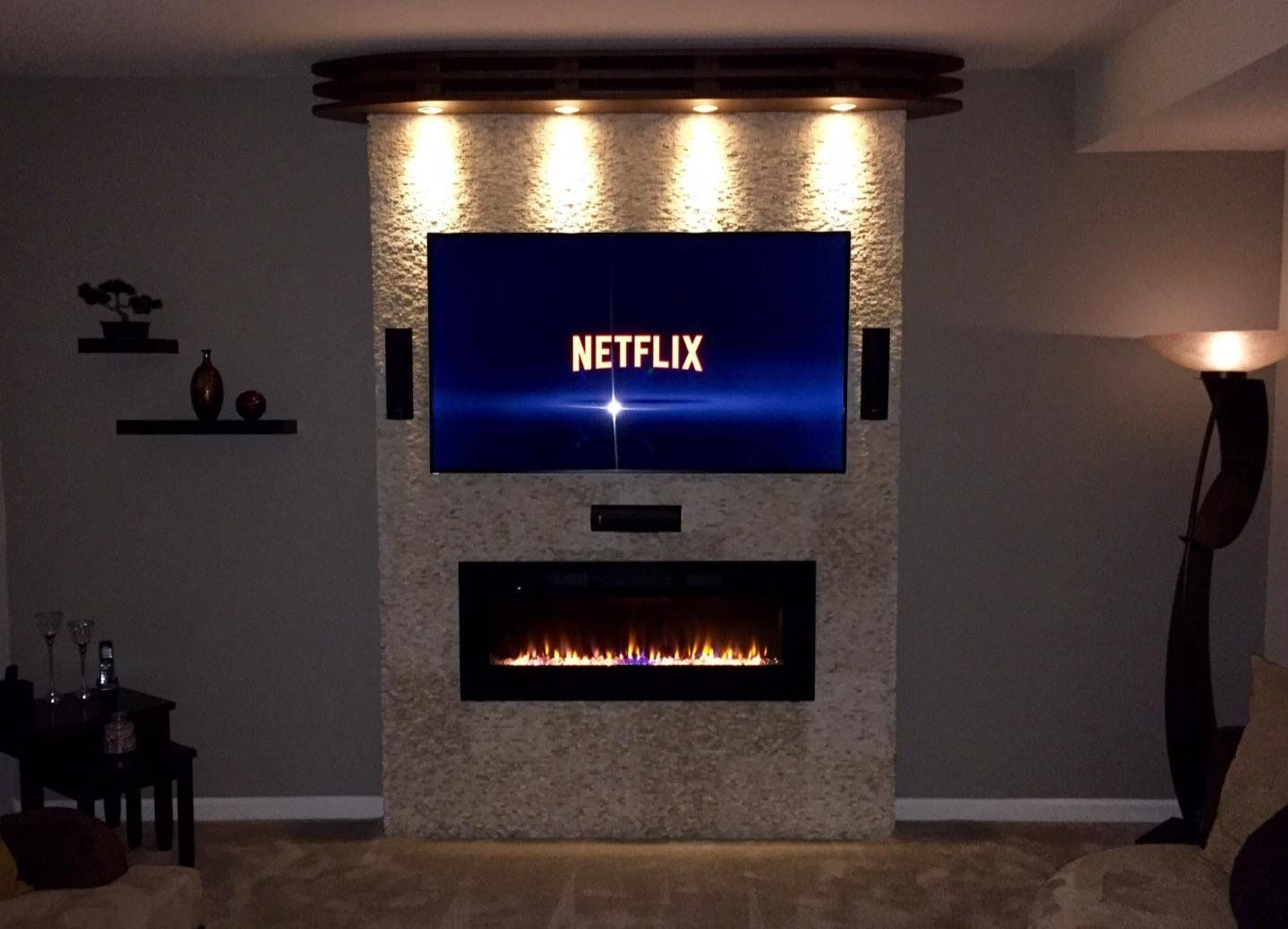 Amazon.com: Napoleon EFL50H Linear Wall Mount Electric Fireplace, 50 Inch:  Home U0026 Kitchen