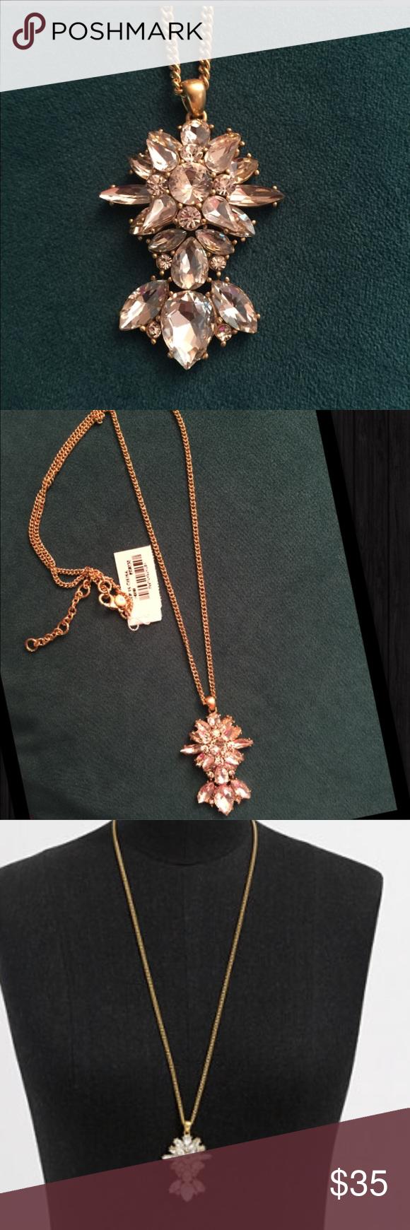 Jcrew stone icon pendant necklace nwt
